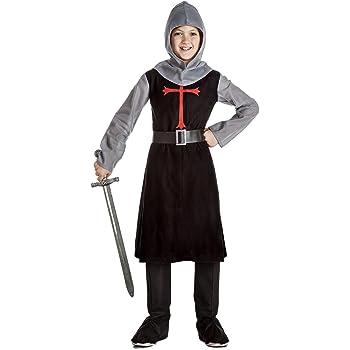 Disfraz de Caballero Medieval Negro para niño: Amazon.es: Juguetes ...
