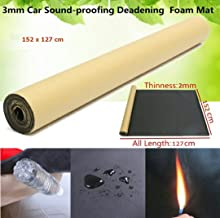 TOTAL HOME Black Adhesive Acoustic Foam Panel Noise Control Insulation Mat Sponge (152X127cm, 2mm)