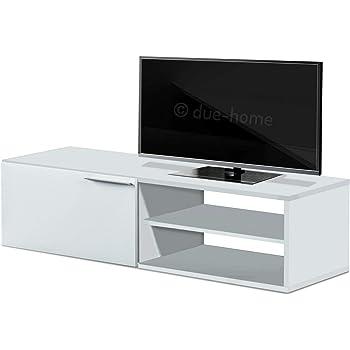 E-com Titan - Mueble para televisor con LED (140 cm), Color Blanco: Amazon.es: Juguetes y juegos
