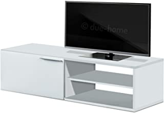 Modulo de Comedor, Mueble TV, Modelo Kikua, Acabado en Blanco Brillo, Medidas: 120 cm (Ancho) x 40 cm (Alto) x 42 cm (Fondo)