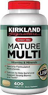 Kirkland Signature Adults, 50 plus Mature Multi Vitamins & Minerals, 800-Count Tablets