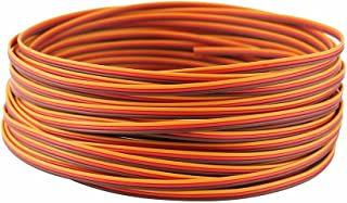 OliYin Roll Over Image to Zoom in 50 Feet 22AWG Servo Extension Cable Wire Extended Wiring 60 Cores Cord Lead for RC Helicopter Drone Cars DIY Accessories