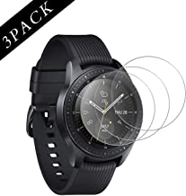 [3 Pack] HSWAI Tempered Glass Screen Protector Compatible for Samsung Galaxy Watch 46mm