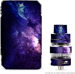 IT'S A SKIN Decal Vinyl Wrap for VooPoo Drag 2 V2 & UForce T2 Tank Vape Sticker Sleeve/Dark Solar Burst Galaxy Nebula