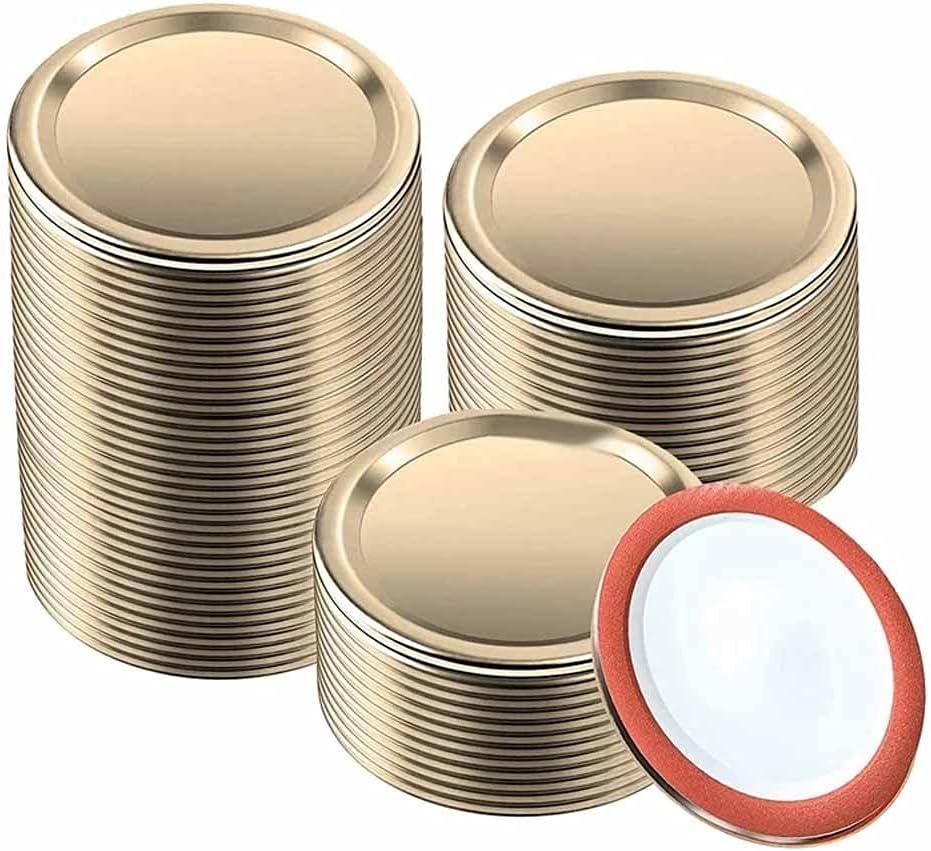 HAHFKJ 150Pcs Regular Mouth Canning for Lids Me Ball 2021 new Split-Type Genuine Free Shipping
