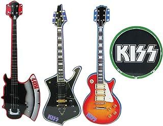 Kiss con forma de instrumentos musicales posavasos conjunto de 4