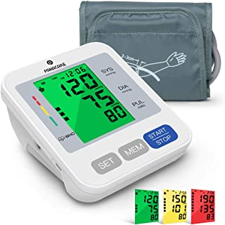 """Blood Pressure Machine for Upper Arm 3.4`` Tri-Color Backlight Screen, PANACARE Automatic Electronic Blood Pressure Meter Monitor, BP Monitor Machine, Audio Reading, 8.7-16.5"""" XL Cuff for Home Use"""