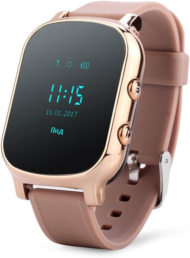 Reloj de pulsera con GPS para niños y ancianos, con Google Maps, botón de SOS, localizador personal, GSM, reloj T58 para iOS y Android