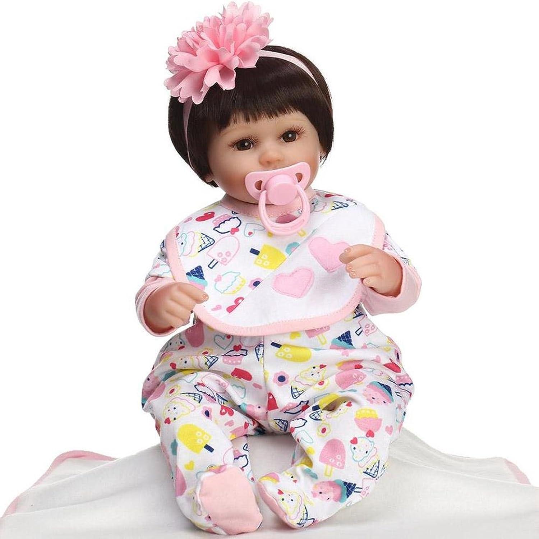 SHTWAD Reborn Baby-Puppe Lebensecht Realistisch Aussehende Spielzeug Geschenkset 40cm Weiches Silikon B07LBDPHBV Das hochwertigste Material    Stil