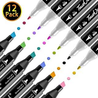 マーカーペン 12色セット 太細両端 イラスト マーカー カラーペン サインペン コミック用 水彩ペン 油性 無毒 防水 速乾性 環境にやさしい 描画 塗 り絵 学習用 落書き 手作り DIY by VIAKY