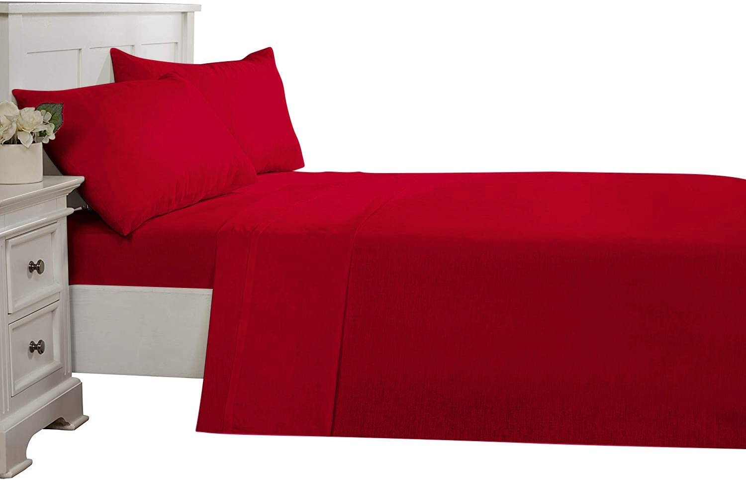 AllinOne Cotton Tucson Mall 3 Piece Flat Sheet Thread Count Topics on TV S 800 Queen Only