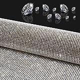 Woniutch 19440pcs Self-Adhesive Bling Crystal Stone Diamond Rhinestone Sheet, Car/Phone/Hair Dryer Stickers(9.5' x 15.8') (Silver)