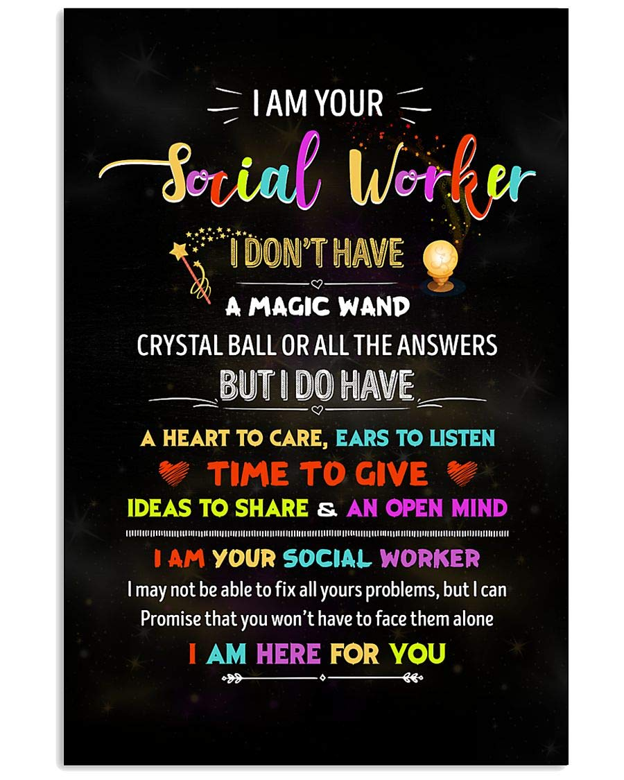 I Am Your Ranking TOP1 Social Worker Canvas for Perfect Farmhous Print Modern store
