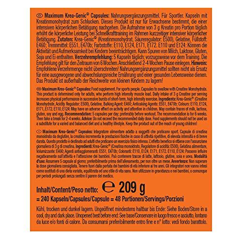 Weider Maximum Krea-Genic, 240 Kapseln, 1er Pack (1 x 208 g) - 7