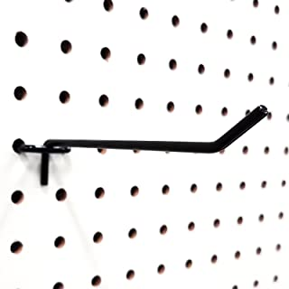 "4"" Black Metal Pegboard Hooks - 40 Pack"