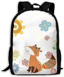 Custom Retro Fox Casual Backpack School Bag Travel Daypack Gift