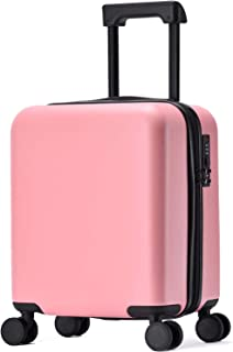GURHODVO Kids Luggage with Wheels Carry On Children Rolling Suitcase for kids Travel Pure Color (pink)