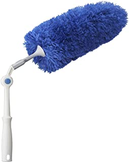 Unger Click & Dust Duster with Pivoting Handle Microfiber Duster Blue
