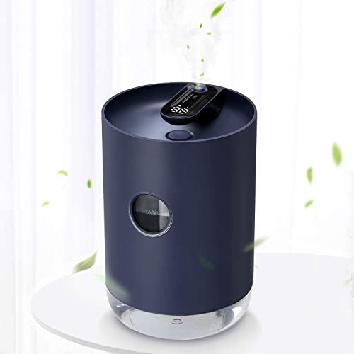 Cool Mist Humidifier,1000mL Portable Rechargeable Humidifier with 3000mAh Battery Operated, Night-Light Features, Aut...