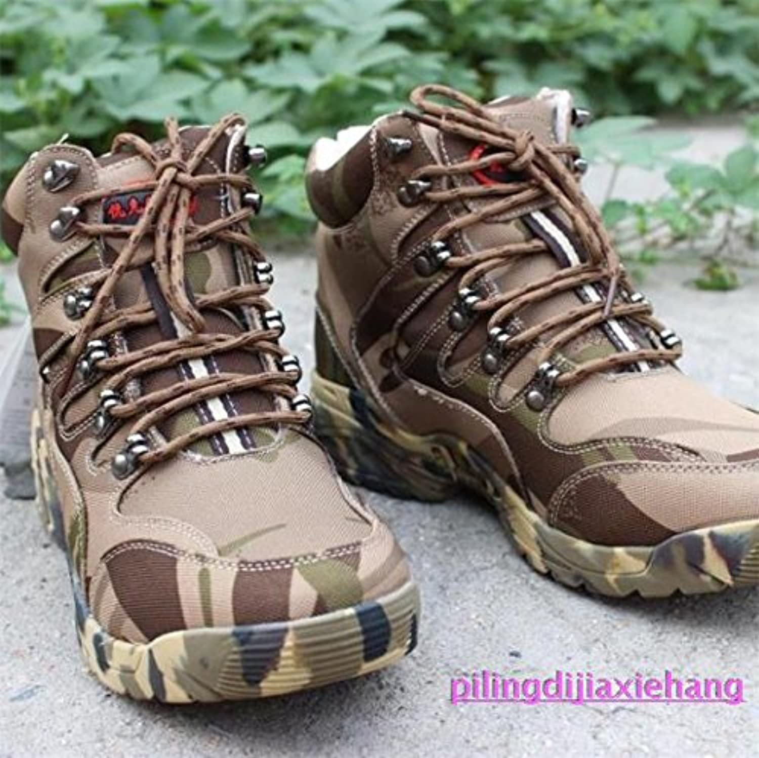 Men's outdoor winter outdoor sports shoes and boots high boots waterproof anti skid