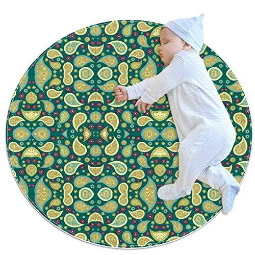 DEDEF Vintage-Bilderteppich, groß, rutschfest, zottelig, weich, für Schlafzimmer, Boden, Zuhause, Küche, Badezimmer, Dusche, Putzmatte für Kinder, Multi3, 100x100cm/39.4x39.4IN