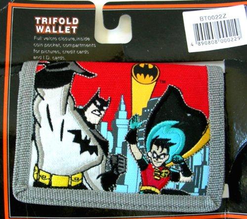Batman & Robin Wallet : Batman Children Trifold wallet (red)