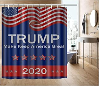 Donald Trump 2020 Keep America Great Shower Curtain, Waterproof Bathroom Shower Curtain Polyester Fabric Shower Curtain Size 60 X 72 Inch