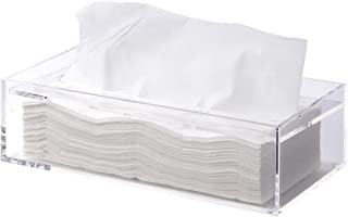 MUJI Clear Acrylic Bathroom Facial Tissue Dispenser Box Storage Case Cover Container / Decorative Napkin Holder