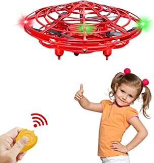 Byserten Toys for 4 5 6 Year Old Boys Mini Indoor Drone Air Magic Hogs Flying Toys Remote Control Helicopter UFO Hand Operated Drones for Kids with LED Lights Gifts Birthday Christmas