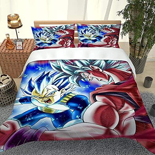 Biancheria da letto 3D Bedding per lui e lei con un supereroe dei cartoni animati, matrimoniale (200 x 200 cm), set da 3 pezzi, 1 copripiumino + 2 federe coordinate.