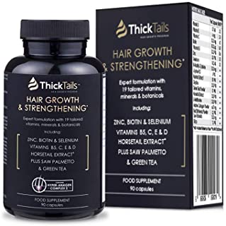 ThickTails Hair Growth Vitamins Pills - For Women With Thinning Hair Due to Menopause & Stress. Natural Hair Growth Formul...