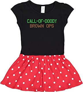 inktastic Call of Doody: Brown Ops Toddler Dress
