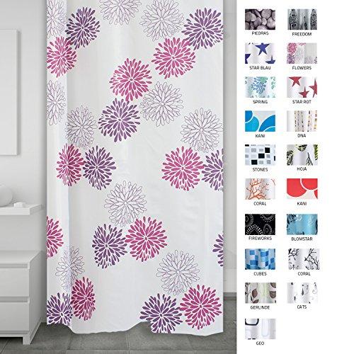 RIDDER 403060 Duschvorhang Textil ca. 180 x 200 cm, Sandra