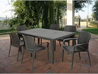 Tavolino Rattan Da Giardino.Amazon It Rattan Tavoli Standard Tavoli E Tavolini Giardino
