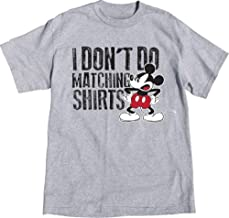Disney T Shirt Mickey Mouse I Don't Do Matching XXL 2XL Grey