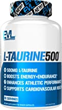 Evlution Nutrition L-Taurine500, 500mg of L Taurine in Each Serving, Energy & Endurance, Cardiovascular Health, Gluten-Fre...