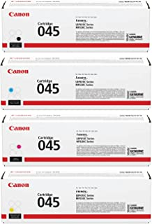 Canon 045 Toner Cartridge - Kit A for MF630 Series & LBP612Cdw Printers, Includes Yellow/Magenta/Cyan/Black