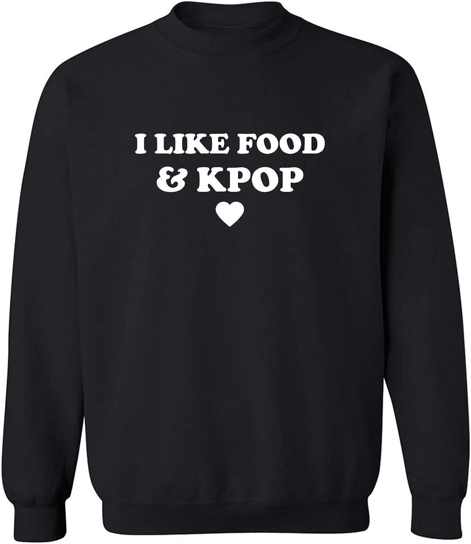 zerogravitee I Like Food & Kpop Crewneck Sweatshirt