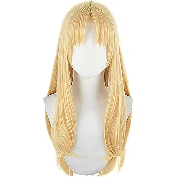 Anime The Rising of The Shield Hero Firo Wig Long Blonde Straight Hair Cosplay