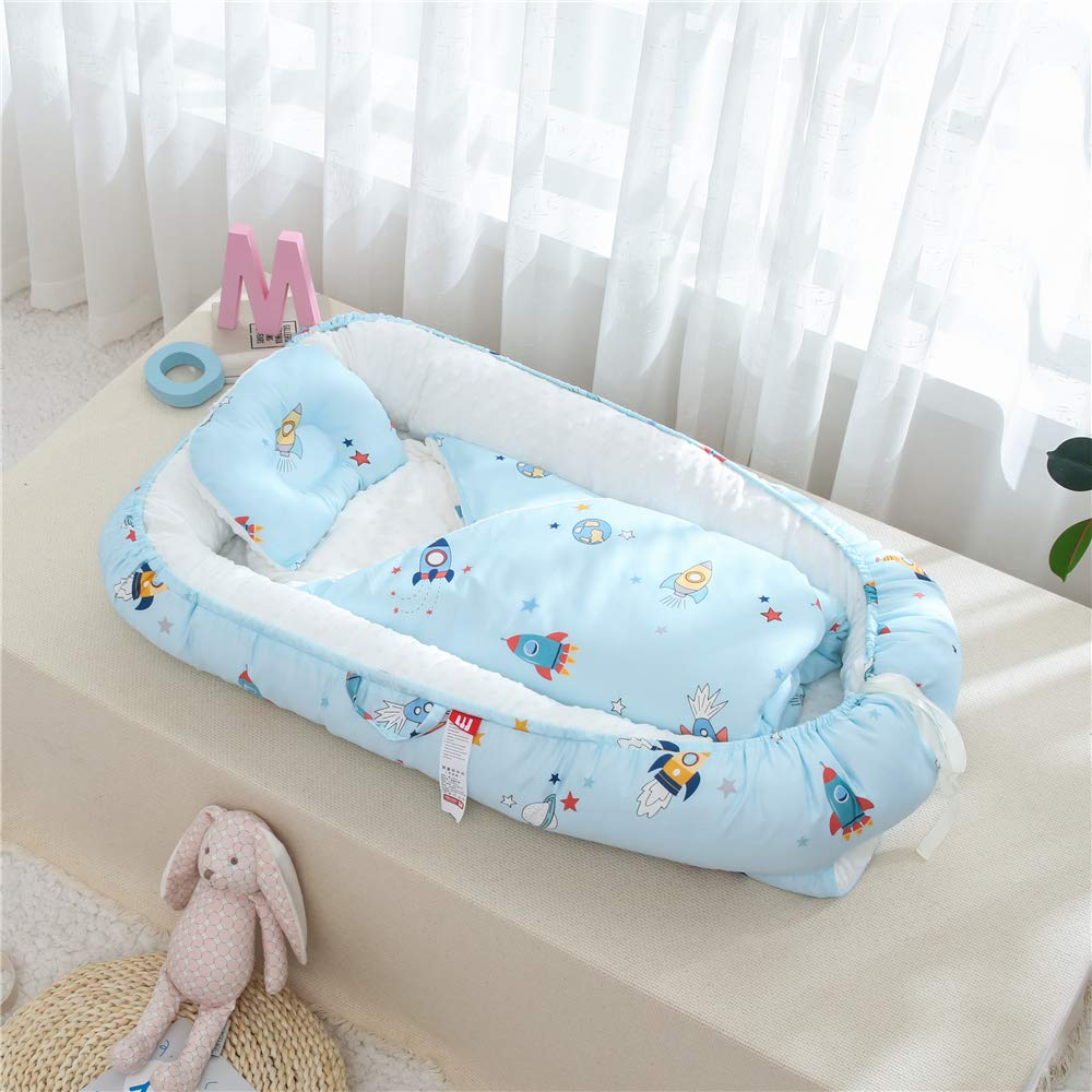 Traddy Baby Inexpensive Lounger nest Newborn 100% Max 59% OFF Soft Cotton