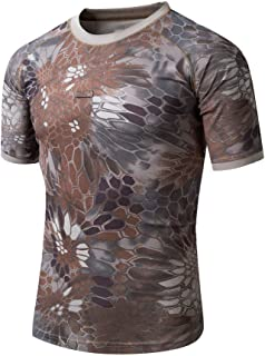 ChangNanJun Men Quick Dry Tee Short Sleeve Crew Neck T-Shirt Top
