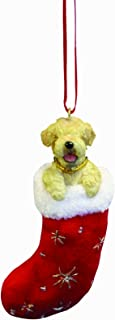 Soft Coated Wheaten Christmas Stocking Ornament with