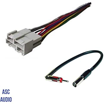 Amazon.com: ASC Audio Car Stereo Wire Harness and Antenna Adapter to  Aftermarket Radio for Some GM Buick Cadillac GMC Oldsmobile Pontiac Saturn-  No Factory Bose/Amp- Compatible Vehicles Listed Below: Car ElectronicsAmazon.com