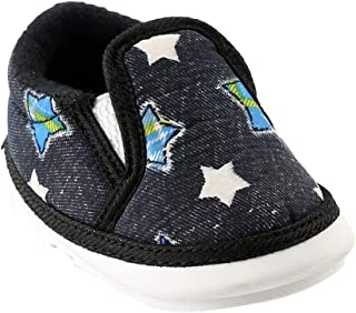 CHIU Boys and Girls Stars Printed Musical Slip-on in Black Colour