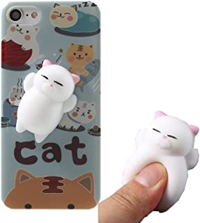 Squishy Cat Case for Huawei Google Nexus 6P,Polar Bear Sleepy Cat Finger Pinch 3D Soft Silicone Relax Poke Squishy Toys Kawaii Animals TPU Case for Google Nexus 6P 2015(Cat Tiger)