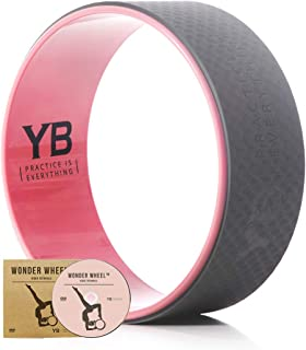 featured product YOGABODY Jumbo (15) Yoga Wheel Official – The Wonder Wheel – DVD & PDF Pose Chart Included, Baby Pink/Grey