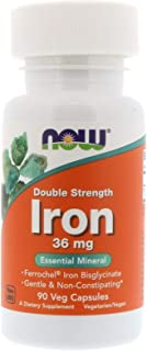 Iron Ferrochel Bisglycinate Double Strength 36 mg 90 Veg Capsules