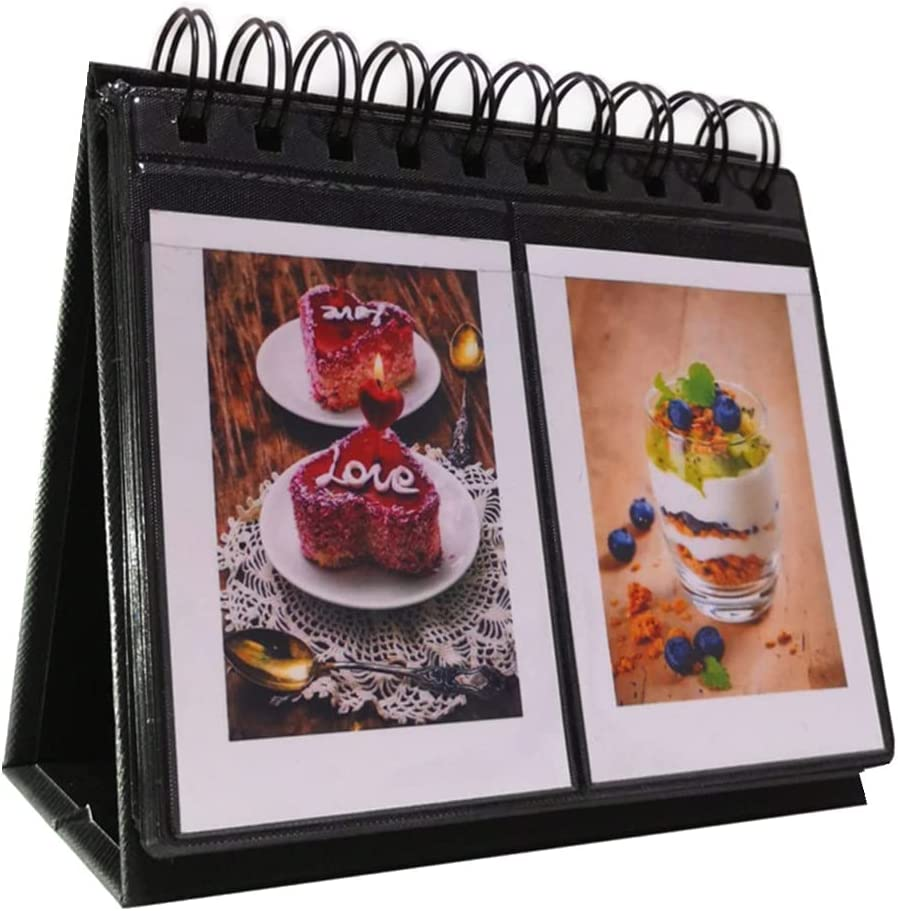 Fudda 68 Pockets Mini Photo Album Branded goods Desk Elegant Calendar for fits -