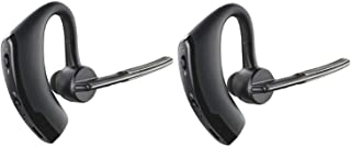 PUBUNUS 2 Piezas Auricular Bluetooth 4.1, Auricular Manos Libres para iPhone Android Auriculares Bluetooth Inalámbrico con Cancelación de Ruido para Oficina, Negocios,Conducción