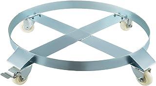 BestEquip Drum Dolly Swivel Caster Wheel 30 Gallon Steel Frame Non Tipping